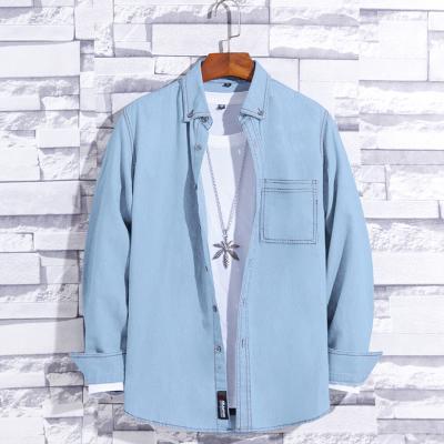 2020 Fashion Trend Urban Casual Male Denim Shirt Long Sleeve Shirt For Man