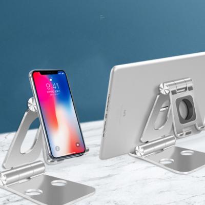 Desktop Aluminum Alloy Folding Storage Lazy Bracket Suitable For Tablet IPad Multi-function Live Mobile Phone Bracket