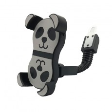 Mountain Bike Bicycle Riding Mobile Phone Holder Takeaway Special Motorcycle Rearview Mirror Anti-fall Panda Mobile Phone Holder