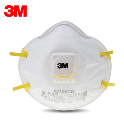 3M 8210VCN N95 Cool Flow Valve KN95 Particulate Respirator Disposable Face Mask