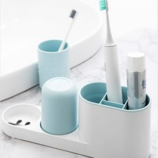 Korea PALATABLE Creative Toilet Toothbrush Shelf Toothbrush Holder Storage Box Set Mouth Cup For Couple