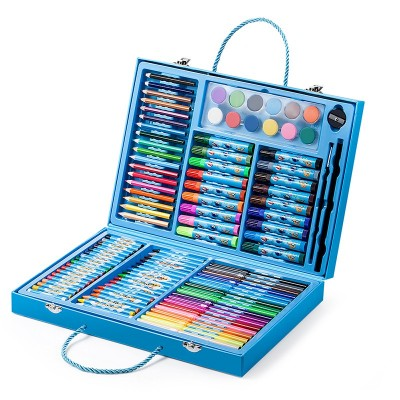 Super Flying Man Children's Drawing Tool Set Colored Pencils Watercolor Pens Crayons Gift