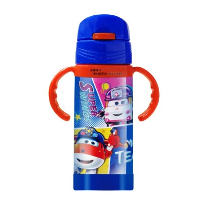 MP-BZ003 Children's Intellectual Fun Thermos Mug Cartoon Stainless Steel Drinking Water Bottle With Straw Water Cup For Boys And Girls