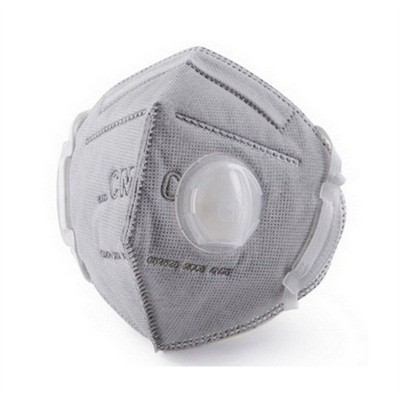 CM 6002A-4 KN95 Activated Carbon Protective Respirator Face Mask with Breathing Valve 25Pcs