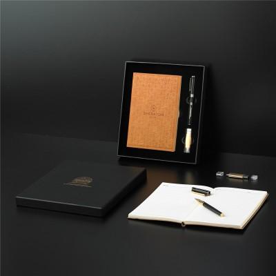Teacher's Day Notebook Set Sign Pen USB Three-piece Customized High-end Strap Notebook