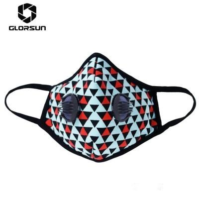 GLORSUN Fashion Sports Mask Washable Cotton Cloth Double Breathing Valve Protective Dust Mask