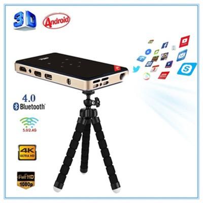 H96-P Mini DLP 4K Keystone Correction Smart Micro Projector Android Pocket Projector