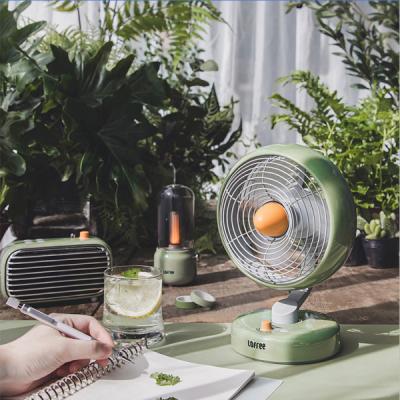 LOFREE Electric Fan Small Office Desktop USB Shaking Head Charging Silent Air Circulation Fan
