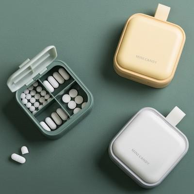 MINI CANDY Portable Dispensing Pill Box Pill Organizer Large-capacity Storage Box