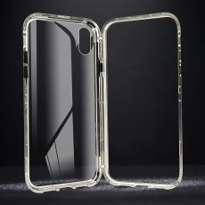 Suitable For iPhone11 Single-sided Glass Magneto Mobile Phone Case With Metal Frame Protective Cover
