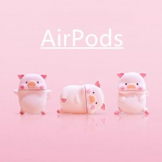 Cute Three-dimensional Expression Pig AirPods Pro Protective Case For Apple 1/2 Generation Bluetooth Headset Case Silicone Soft