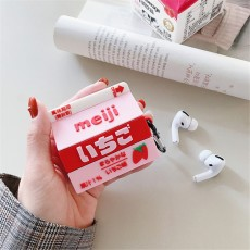 Ins Style Meiji Milk Drink Airpods2 Protective Cover Apple Wireless Bluetooth Headset Cover Silicone Applicable