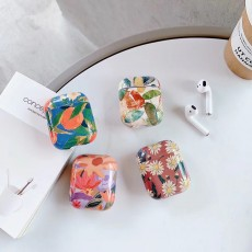 Suitable For Airpods PRO Protective Shell Airpods312 Generation Protective Cover Water Stickers Small Fresh Flowers Earphone Sleeve