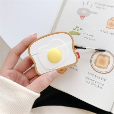Ins Cute Toast Egg Airpods Protective Cover For Apple Wireless Bluetooth Headset Silicone Cover