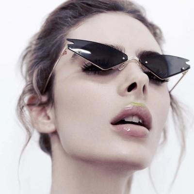 S8037 Cat-eye Sunglasses Women's Tide Cross-border Explosion Models All-match Colorful Sunglasses Street Photography Sunglasses