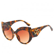 New Trend Fashion Diamond-studded Sunglasses Personality Street Shooting Cat-eye Sunglasses Large Frame Delicate Glasses