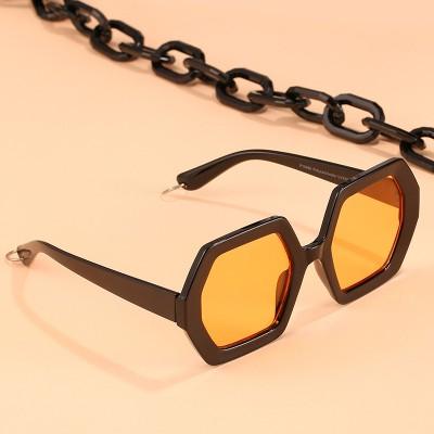 2020 Personalized Chain Sunglasses European And American Exaggerated Octagonal Sunglasses Women Fashion Glasses Sunglass