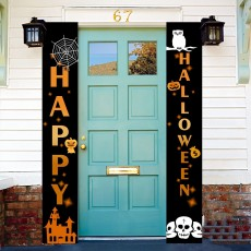 Halloween Hanging Door Decorations and Wall Signs Welcome Signs Curtain Banner Halloween Home Décor