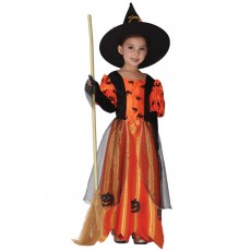 Halloween Costume Children Princess Witch Stage Costume Cosplay Masquerade Witch Costume