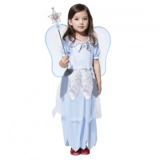 Halloween Children's Costume Masquerade Costume Girl Blue Silver Fairy Costume Cosplay Clothes Wholesale G-0025