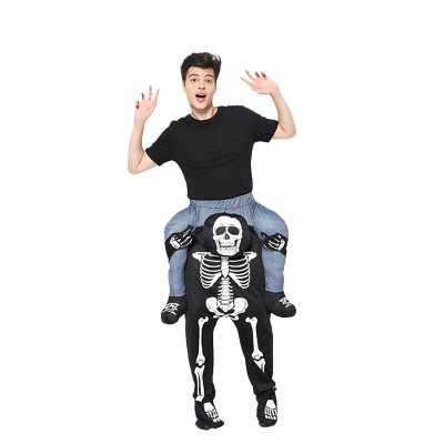 Halloween Christmas Skull Back Pants Magic Pants COS Party Stage Performance Costume