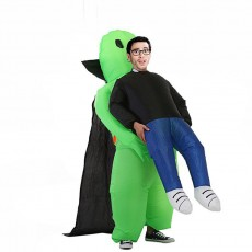 Vampire Cloak ET Alien Inflatable Costume Green Ghost Inflatable Costume Cosplay Dress Up Party Prank