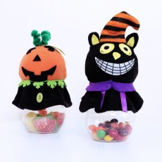 2020 Halloween Decorations Creative Black Cat Pumpkin Transparent Candy Jars Ghost Festival Mall Events Now Decorations
