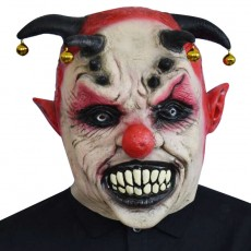 New Horror Bells Clown Mask Halloween Latex Circus Clown Headgear Funny Party Props Carnival
