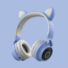 New Student Cute Cat Ear Headset Wireless Cartoon Bluetooth Gaming Headset Mobile Phone Explosion Headset