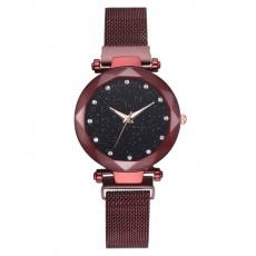 Magnetic Lazy Quartz Watch Cross-border Hot Sale Starry Star Rhinestone Vibrato Starry Sky Watch