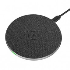 Mobile Phone Wireless Charger Aluminum Alloy Round Cake Leather Cloth Pattern 15 Watt Fast Charge Gift For IPhone 8X