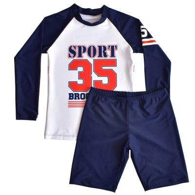 2020 Autumn And Winter Children's Swimsuit Boys Big Kids 10-15 Long Sleeve Split Swimsuit