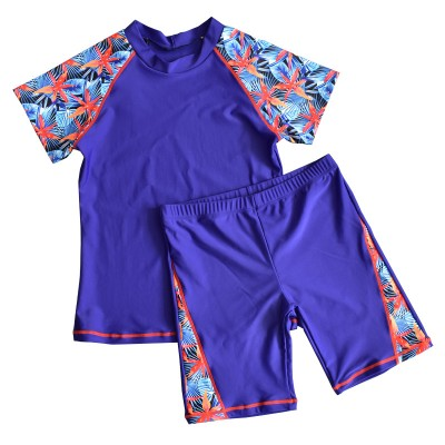 2020 Autumn And Winter Hot Spring New Children's Swimsuit Big Children Flat Angle Split For Boys