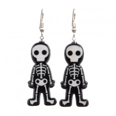 Halloween Accessories Acrylic Personality Skull Ghost Earrings Halloween Fear Skull Ghost Ear Earrings