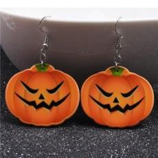 Halloween Pumpkin Earrings Ghost Festival Owl Earrings with Propitious implied Meaning Earrings Studs