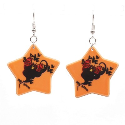 Halloween Pumpkin Earrings Ghost Festival Owl Earrings with Propitious implied Meaning Earrings Studs