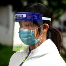 Anti-fog Anti-droplet Face Screen Stock Anti-oil Anti-virus Splash-proof Transparent PET Protective Mask