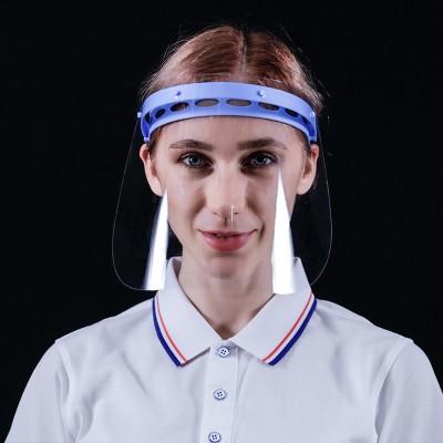 Adjustable Anti-droplet Anti-fog Isolation Mask Anti-epidemic Anti-splash Disposable Transparent PET Protective Mask