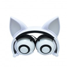 New Style Cat And Fox Ear Luminous Earphones With Cute Design Suitable For Students And Children
