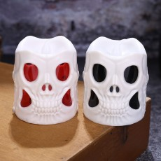 Creative Halloween Gift Led Skull Electronic Candle Light Cylindrical Decoration Candle Light