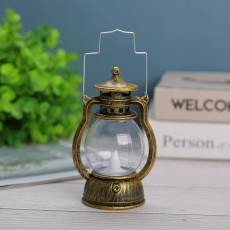 LED Wind Lanterns Halloween Candlestick Decoration Christmas Retro Portable Lanterns Cross-border Bar Atmosphere Decoration Lights