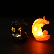 Halloween New Pumpkin Moon Light Ghost Festival Product LED Electronic Luminous Candle Light Decoration Props Small Gift