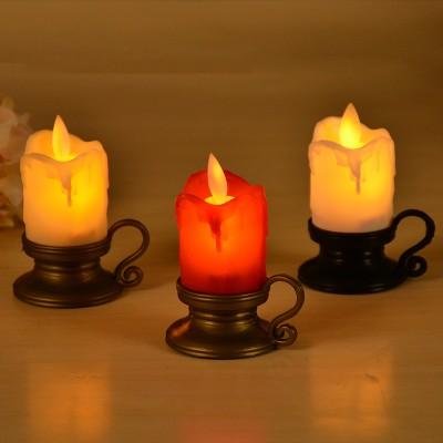 2021 LED Electronic Candle Swing Movement Bar Club Retro Decoration Christmas Wine Glass Simulation Swing Candle Light