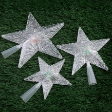 LED Luminous Tree Top Star Wholesale Trade Hot Sale PS Plastic Christmas Decorations Custom Creative Party Decoration