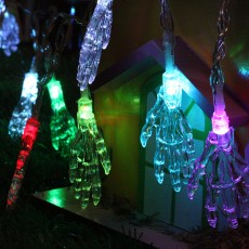 Halloween Decorations 2.5m LED Lantern, Ghost Festival Ghost Skull, Ghost Hand Battery Light String