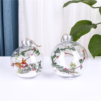 2021 Christmas Transparent Ball Round With Romantic And Lovely Design For Holiday Gift