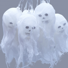 2020 Autumn And Winter New Style Halloween Decoration 2.5m LED Lantern String Ghost Skull star Light With Unique Design