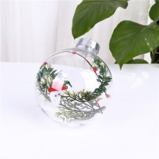 2020 Christmas Transparent Ball Round With Romantic And Lovely Design For Holiday Gift