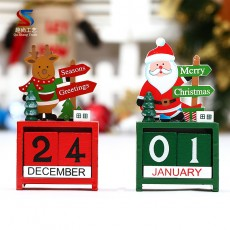 Christmas Creative Gifts Wooden Calendar Decoration Ornaments Small Mini Wooden Date Christmas Decorations