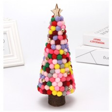 Christmas Decorations Colored Fur Balls Desktop Small Tree 28cm Desktop Mini Christmas Tree Set Up Children's Creative Gifts